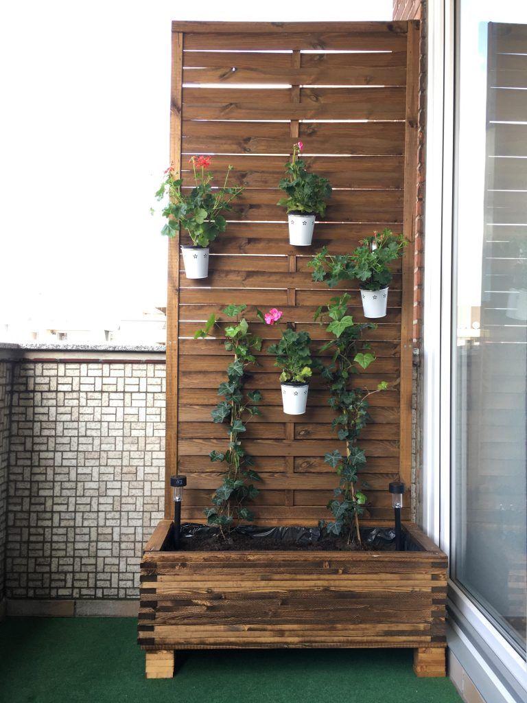 Balkon Sichtschutz Blumenkubel Diy Anleitung Sichtschutz Garten
