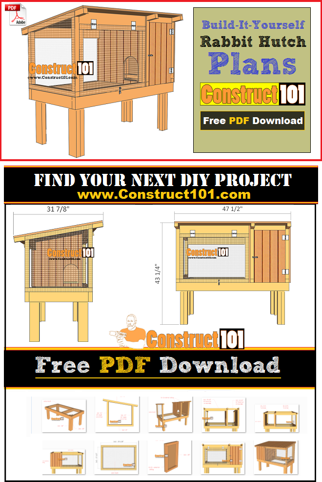 Rabbit Hutch Plans Free Pdf Step By Instructions Cutting List And Ping