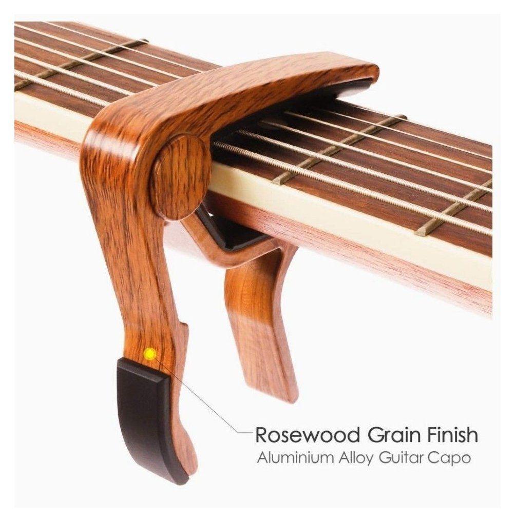 Guitar Capo Capo For Acoustic Guitar 2 Pack Capoforacousticguitar2pack Guitar Capo For Acoustic Guitar 2 Pack Rosewood Color Acoustic Capo With 5 Pick 2020