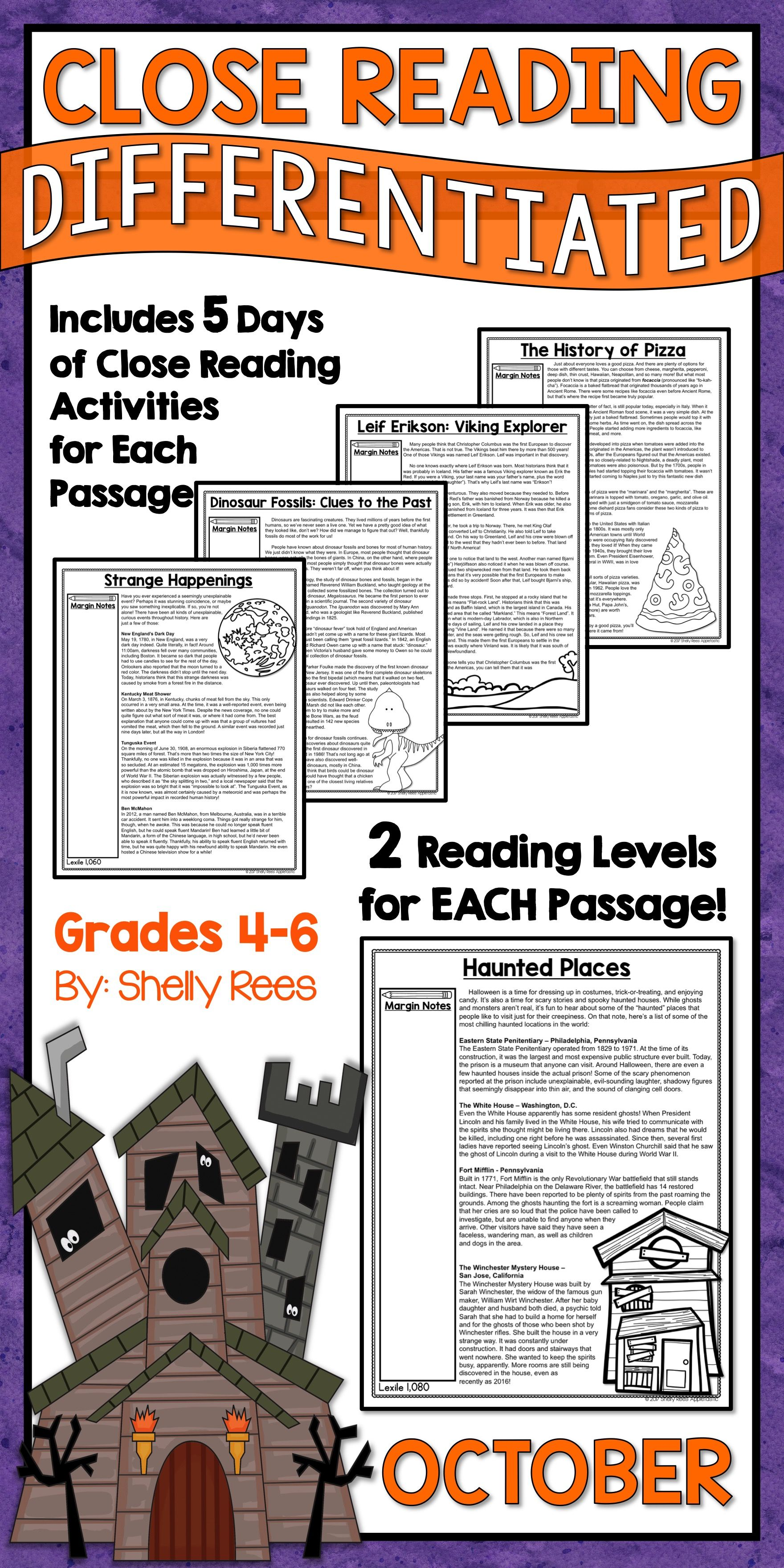 Close Reading Passages And Activities For The Month Of October Are Fun And Interesting For 3rd 4th 5th Reading Passages Close Reading Close Reading Passages [ 3520 x 1760 Pixel ]