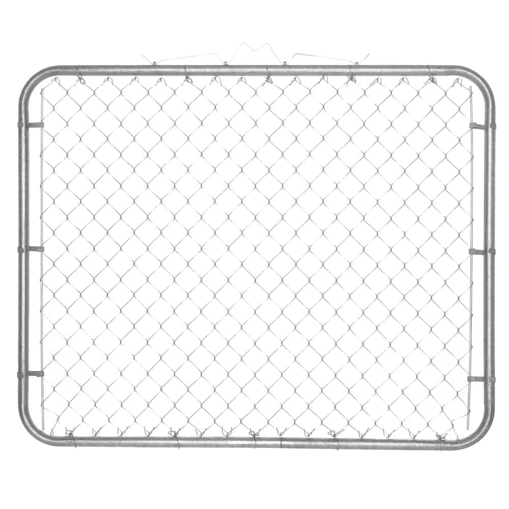 Yardgard 10 Ft W X 4 Ft H Metal Steel Drive Through Chain Link Fence Gate 2 Panels 328402a The Home Depot Chain Link Fence Gate Chain Link Fence Fence Gate