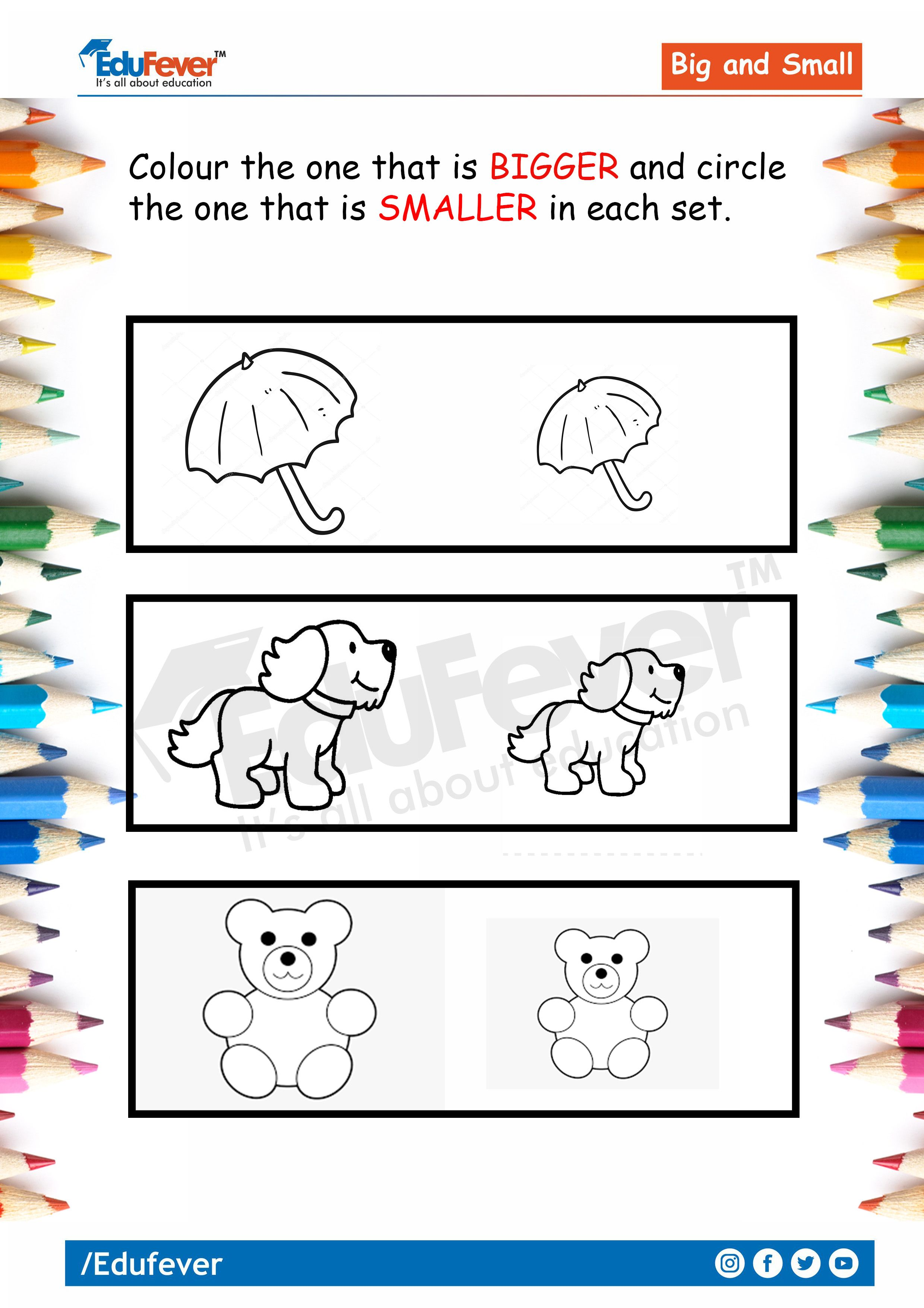 Big And Small Lkg Worksheet In