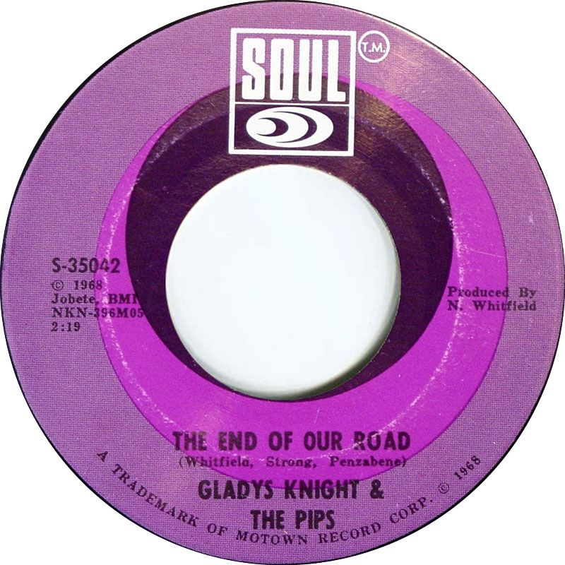 The End Of Our Road Gladys Knight The Pips 1968 Gladys Knight Tamla Motown Motown