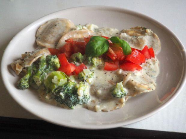 Brokkoli-Ravioli Pfanne