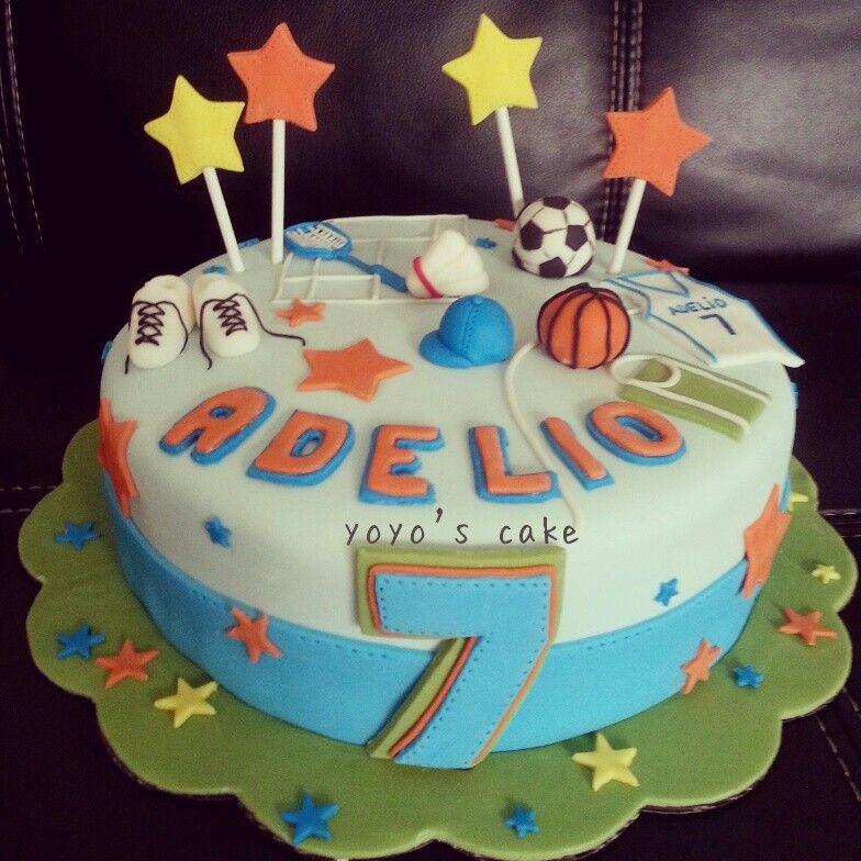 Crazy for sport birthday cake by Yoyos cake Indonesia Cakes n
