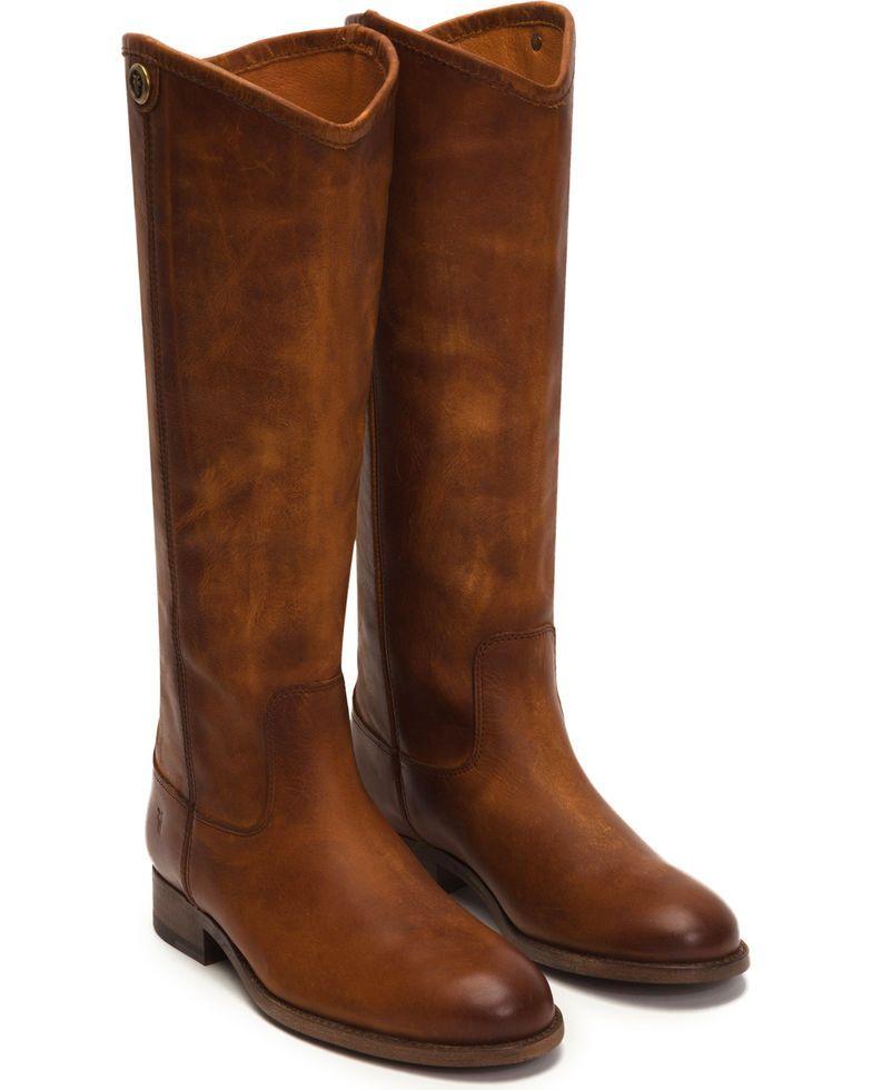 fd90d4a576e7 Frye Women s Cognac Melissa Button 2 Tall Boots - Round Toe in 2019 ...
