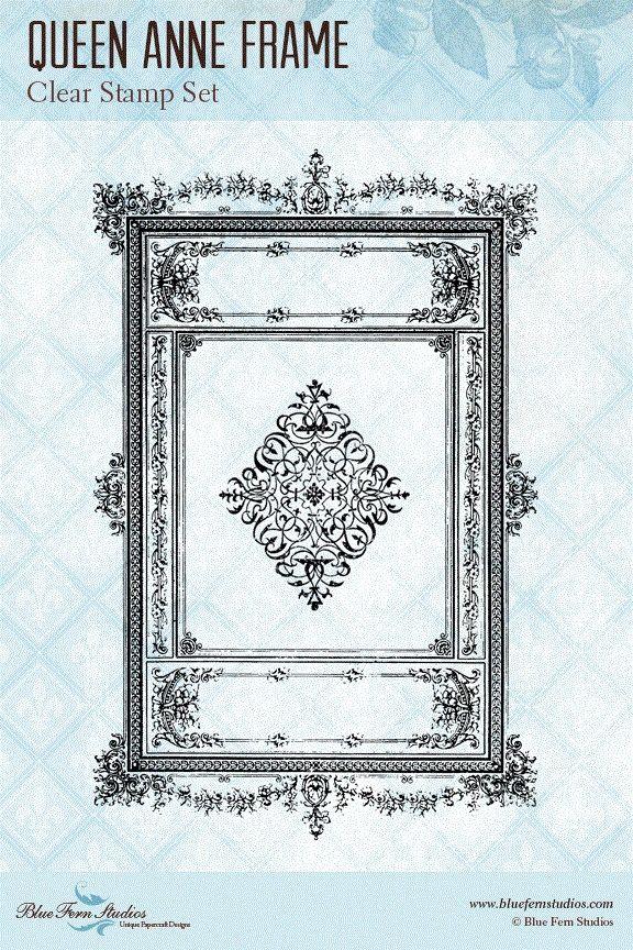 Blue Fern Studios - Clear Stamp - Queen Anne Frame,$9.99   Paper ...