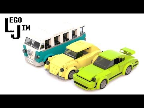 Lego Volkswagen T1 Bus Concept Moc Instructions Youtube Lego