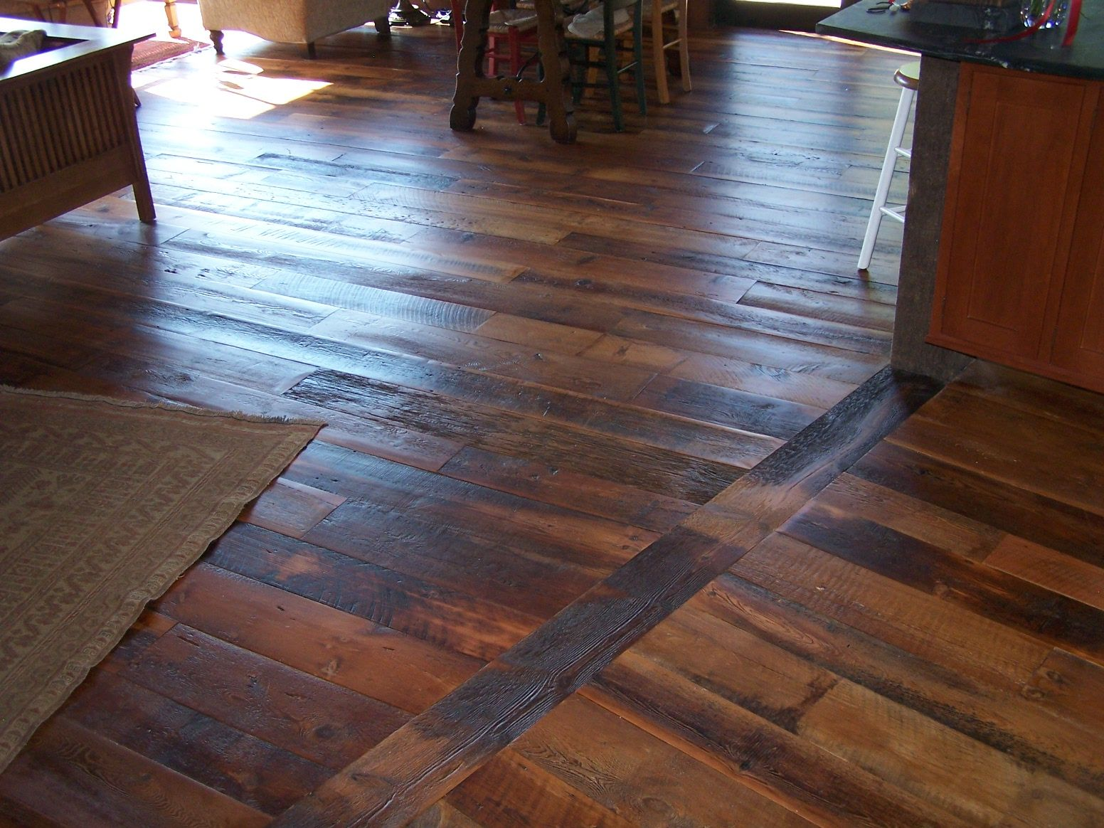 Rustic Wide Plank Hemlock Flooring Reclaimed Wood