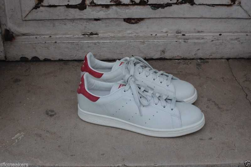 differently 51b7f eb1d0 1111  Adidas Stan Smith Skor Dam Röd Vit SE813529vnLRbiJFv