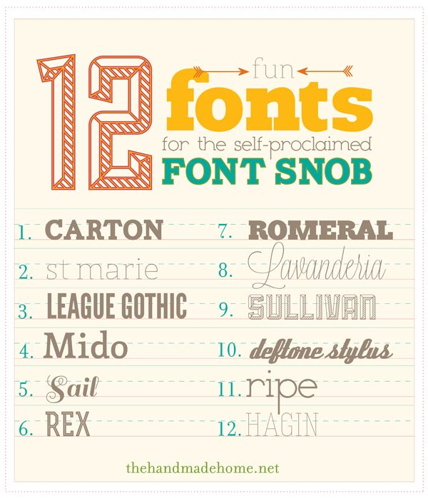 fun fonts for the font snob    					  						 Wednesday, February, 22, 2012
