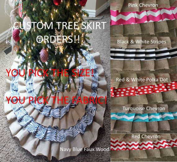 Custom Tree Skirt Orders SALE 50 OFF by WadsworthBoutique on Etsy