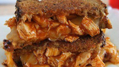 Gourmet Grilled Cheese: Buffalo Chicken Grilled Cheese