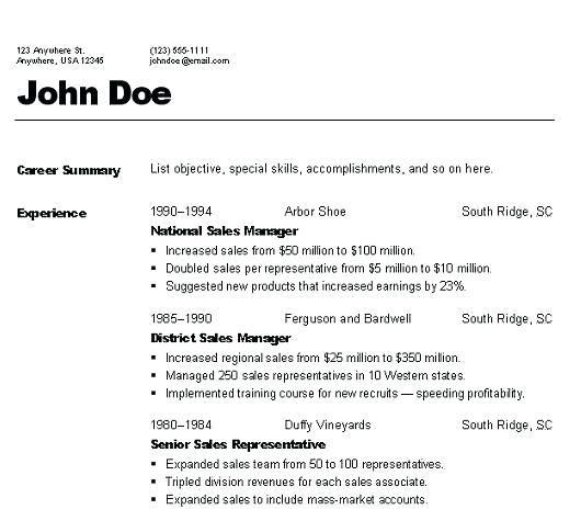 Tips 3-Resume Format Pinterest Sample resume, Resume format