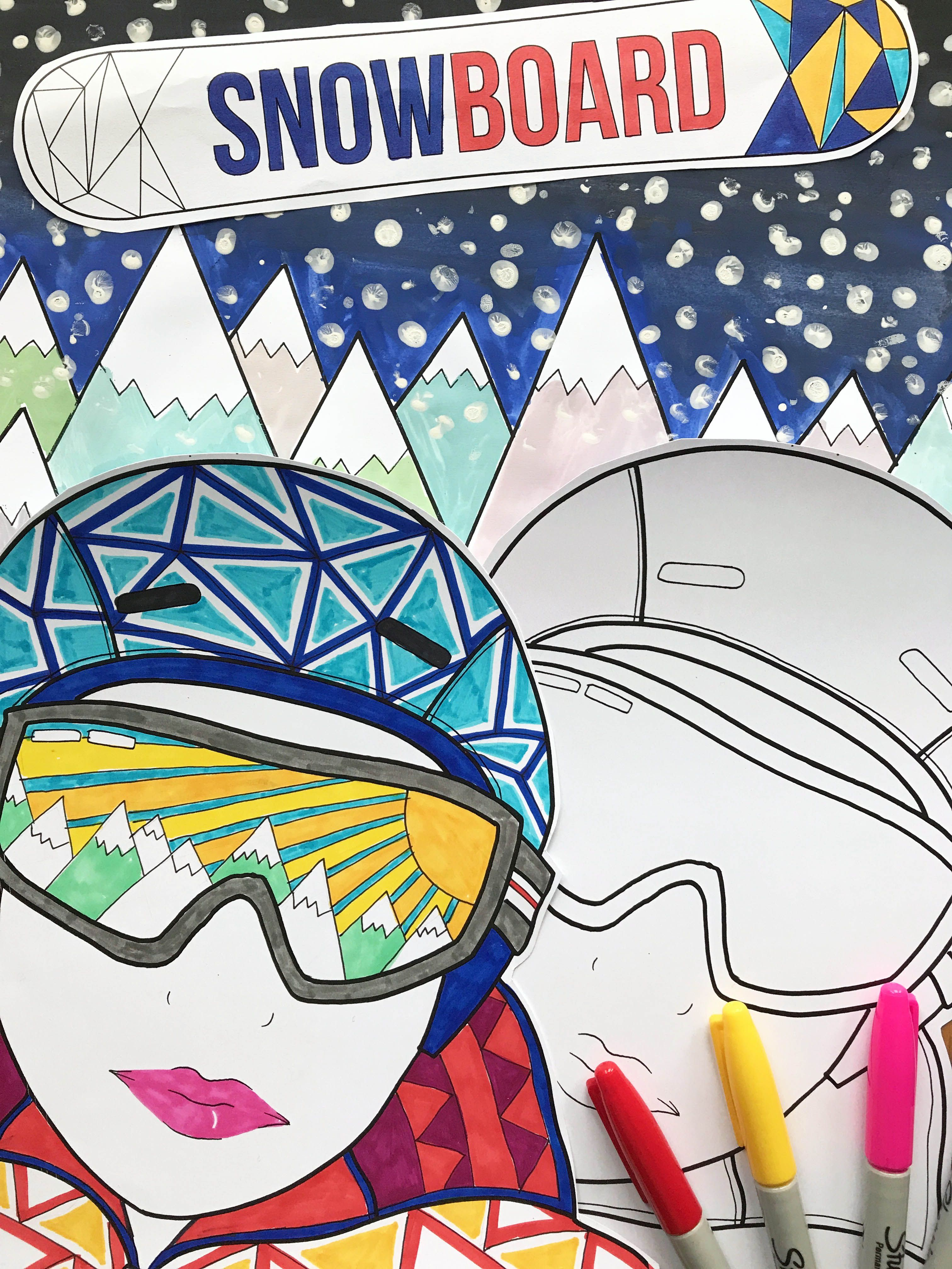 This imaginative 50 page Winter Sports themed art and design ...