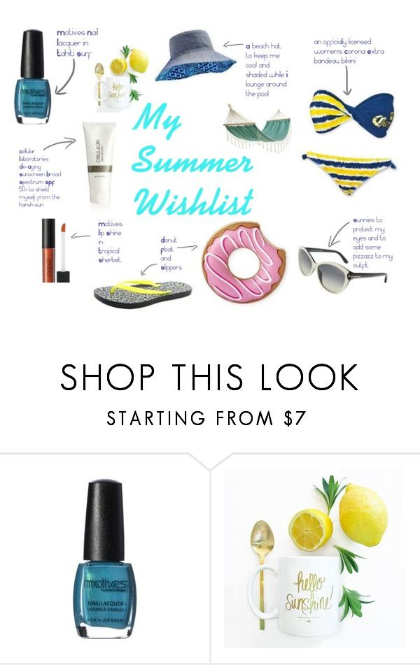 """My Summer Wishlist"" by erinswrite on Polyvore featuring Decoris, Summer and essentials"