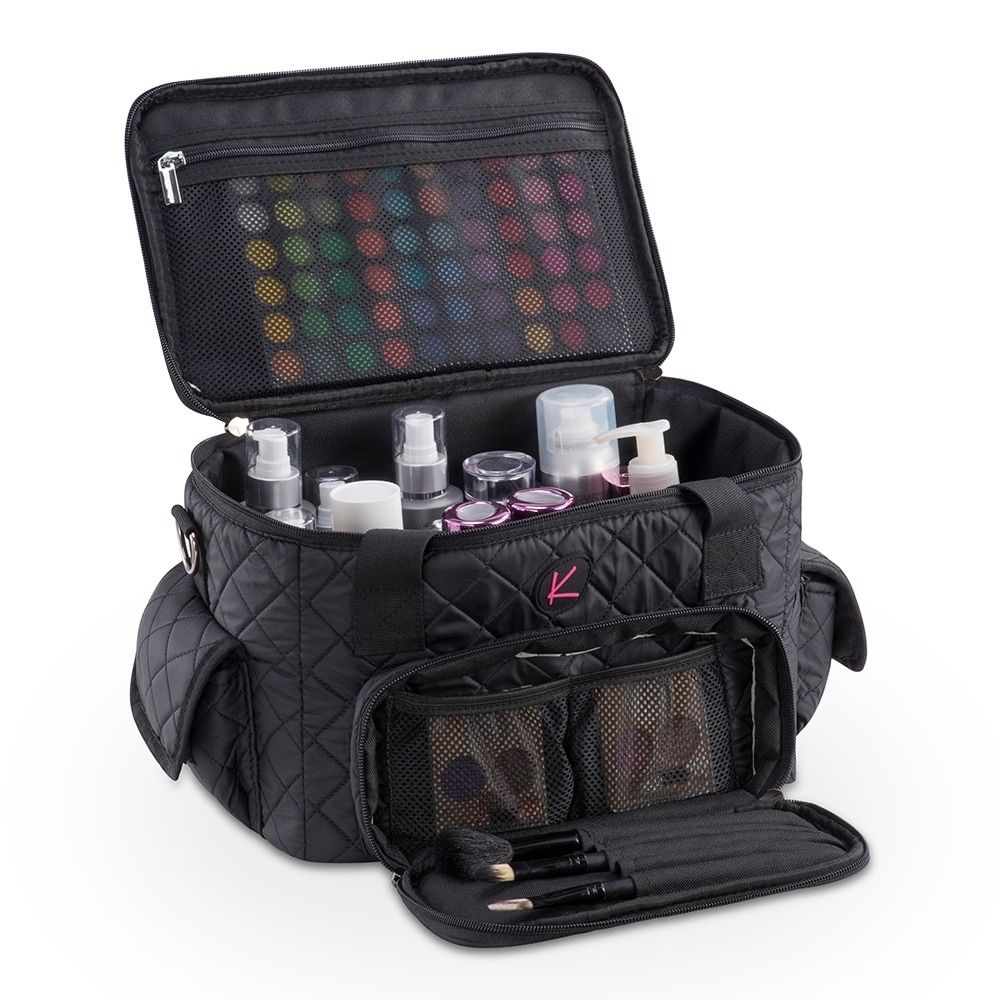 KIOTA Pro Quilted Makeup Artist Cosmetic Travel Bag and