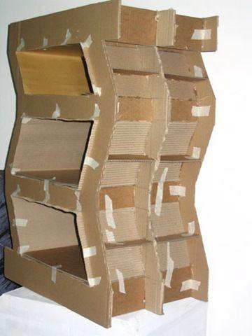 Mueble de carton casas de mu ecas pinterest for Carton para muebles