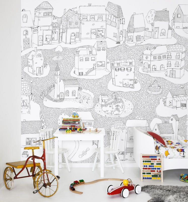papier peint joyville colorier collection hide seek et pour ceux pas inspirer existe aussi. Black Bedroom Furniture Sets. Home Design Ideas