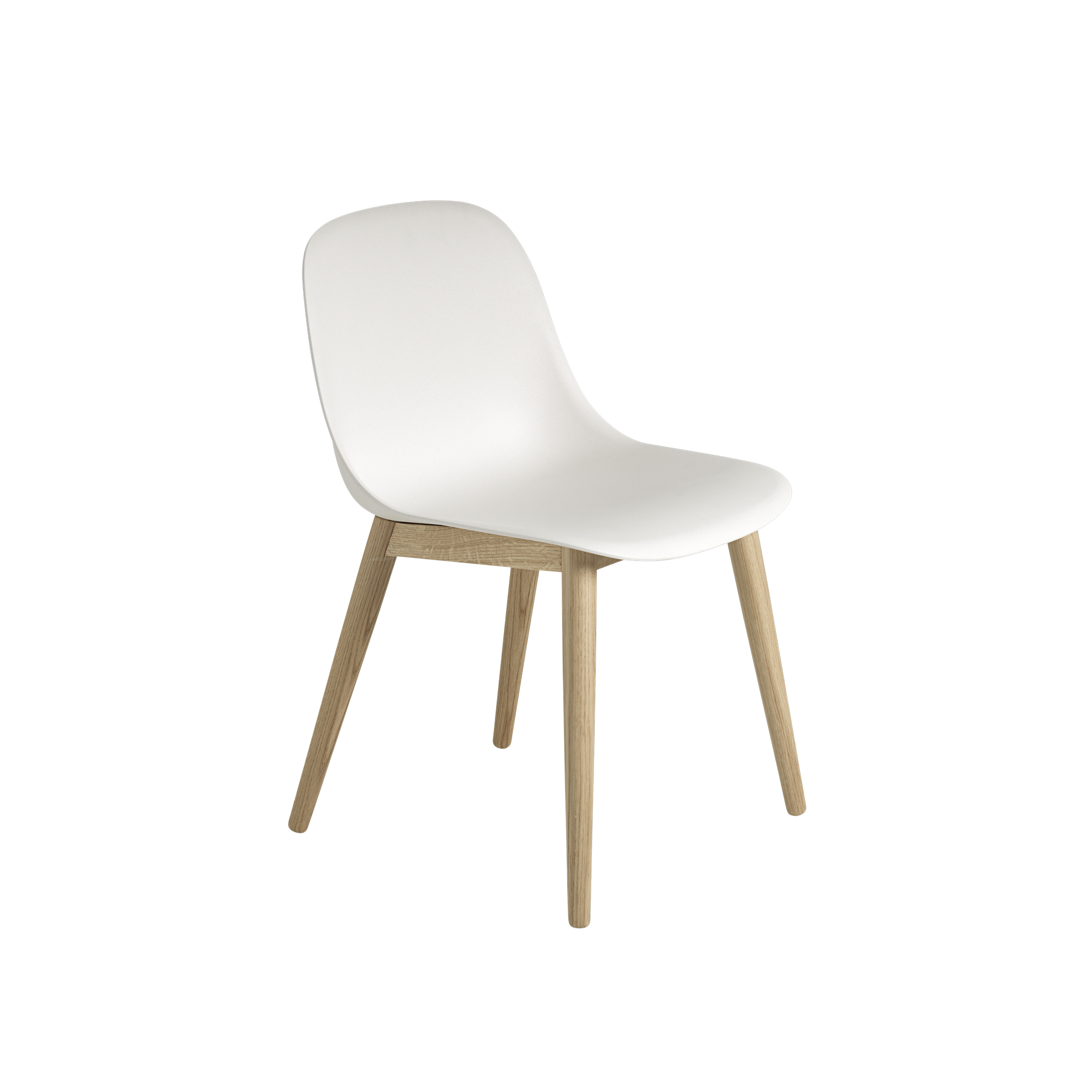 With Its Curved Silhouette And Refined Wooden Base The Fiber Side Chair Adds A Modern Sentiment To Any Space Side Chairs Wood Chair Fiber Siding