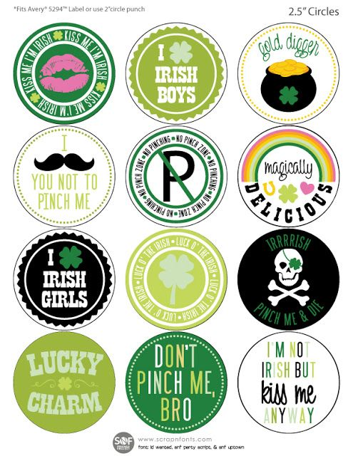 St Patrick/'s Day Hand Drawn GlossyPaper Planner//Diary//Scrapbooking Stickers