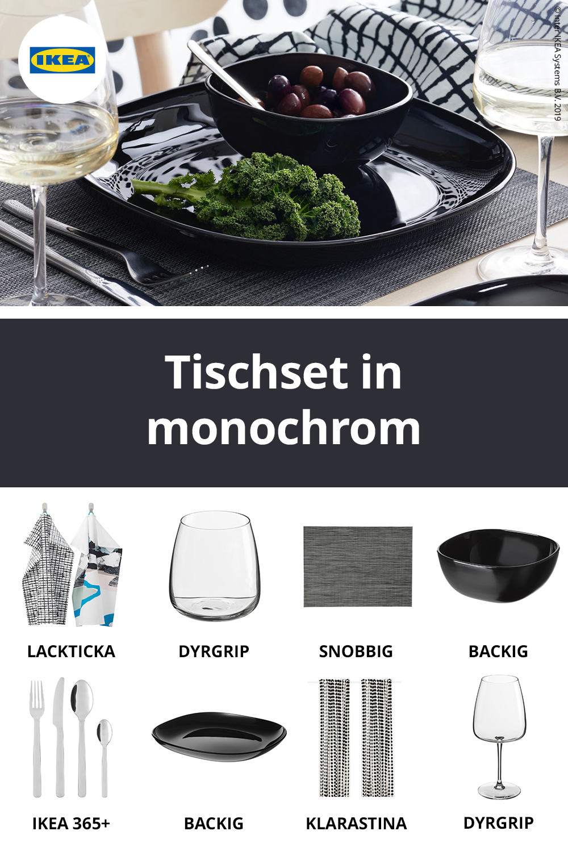 IKEA Deutschland Schwarz und weiß, ob durchgängig