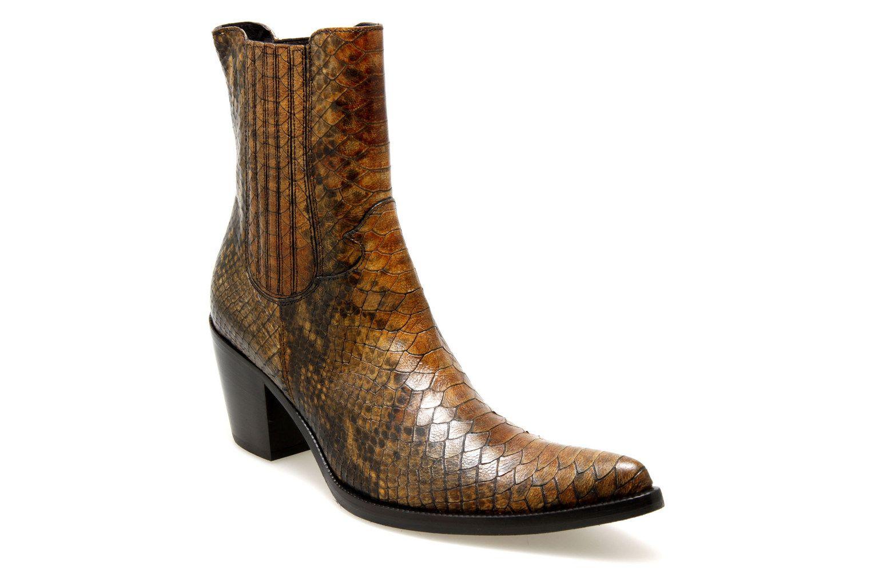 femme Piu Python 55612 Marron Chaussures Donna Boots nOkwP80