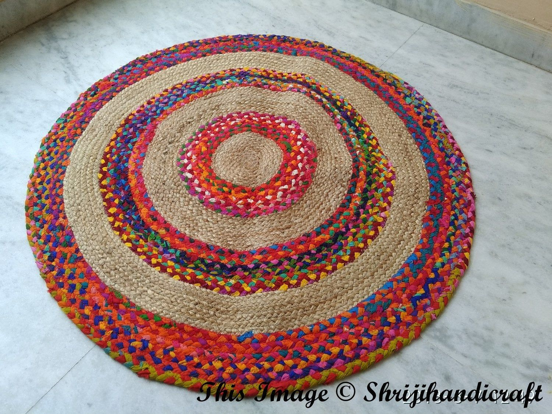 Indian Braided Floor Rug Beautiful