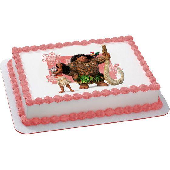 Moana Quarter Sheet Edible Cake Topper (Each)