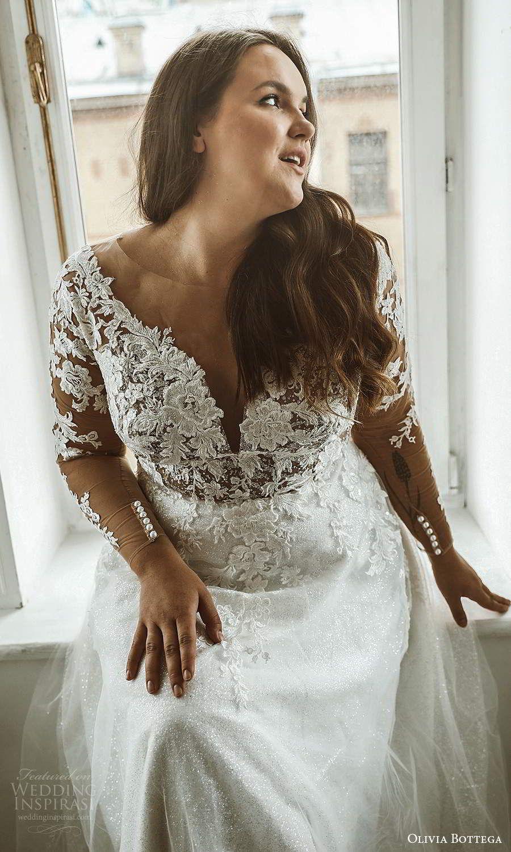 Olivia Bottega 2021 Plus Size Wedding Dresses Wedding Inspirasi Wedding Dress Long Sleeve Figure Flattering Wedding Dress Beautiful Bridal Dresses [ 1500 x 900 Pixel ]