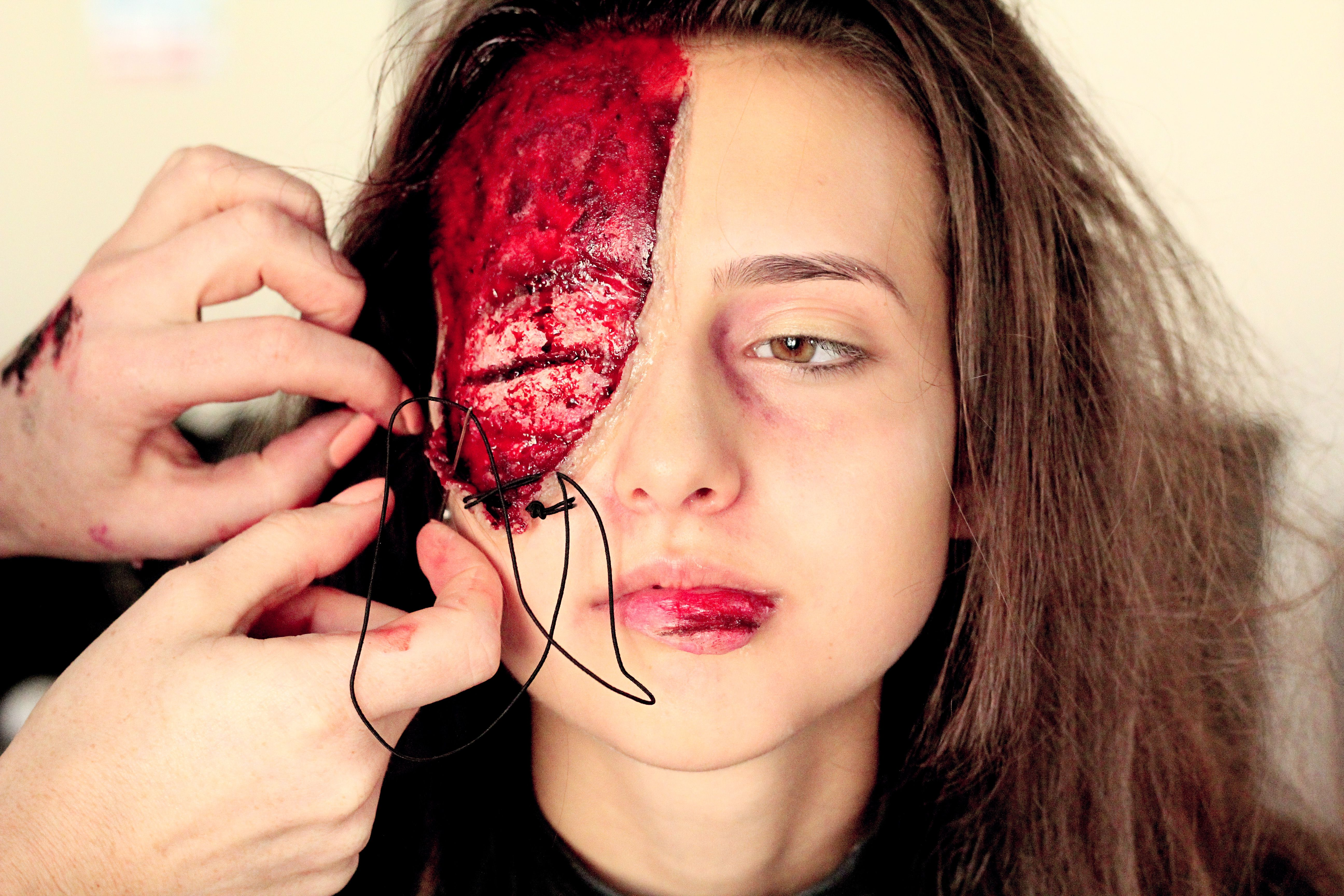 Special effects makeup look created for a Halloween makeup
