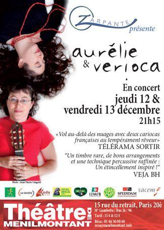 Aurélie & Verioca au Théâtre de Ménilmontant les 12 & 13 décembre 2013 ! http://www.menilmontant.info/index.php?page=show&IDs=659&id=menu_proch&IDp=911