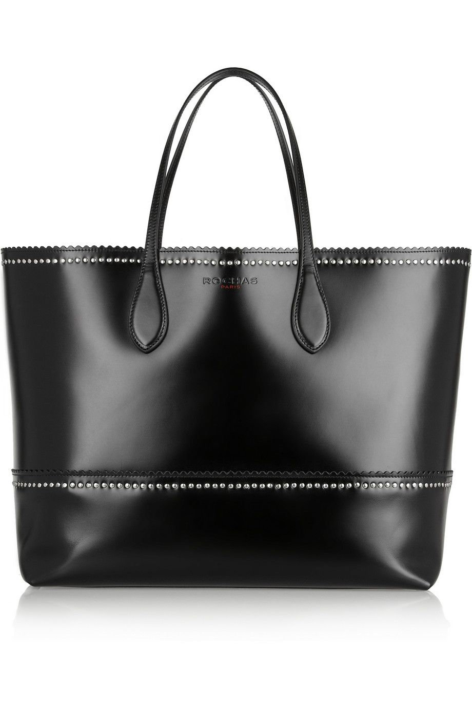 Nothing Found For Handbags 8309 Rochas Studded Leather Tote Bag Ladylike See More About Bags And Totes