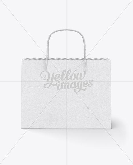 Download Wide Paper Bag Front View Mockup In Bag Sack Mockups On Yellow Images Object Mockups Design Mockup Free Mockup Free Psd Free Packaging Mockup