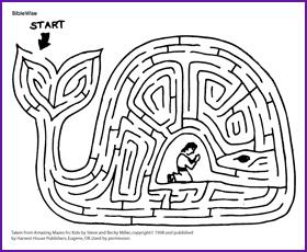 Jonah Story And Maze