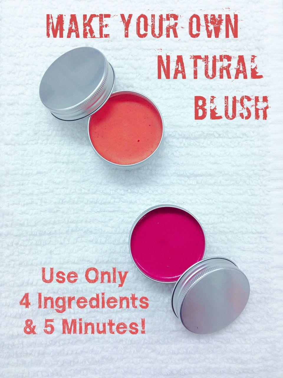 DIY Beauty 100 Natural Cream Blush Homemade blush
