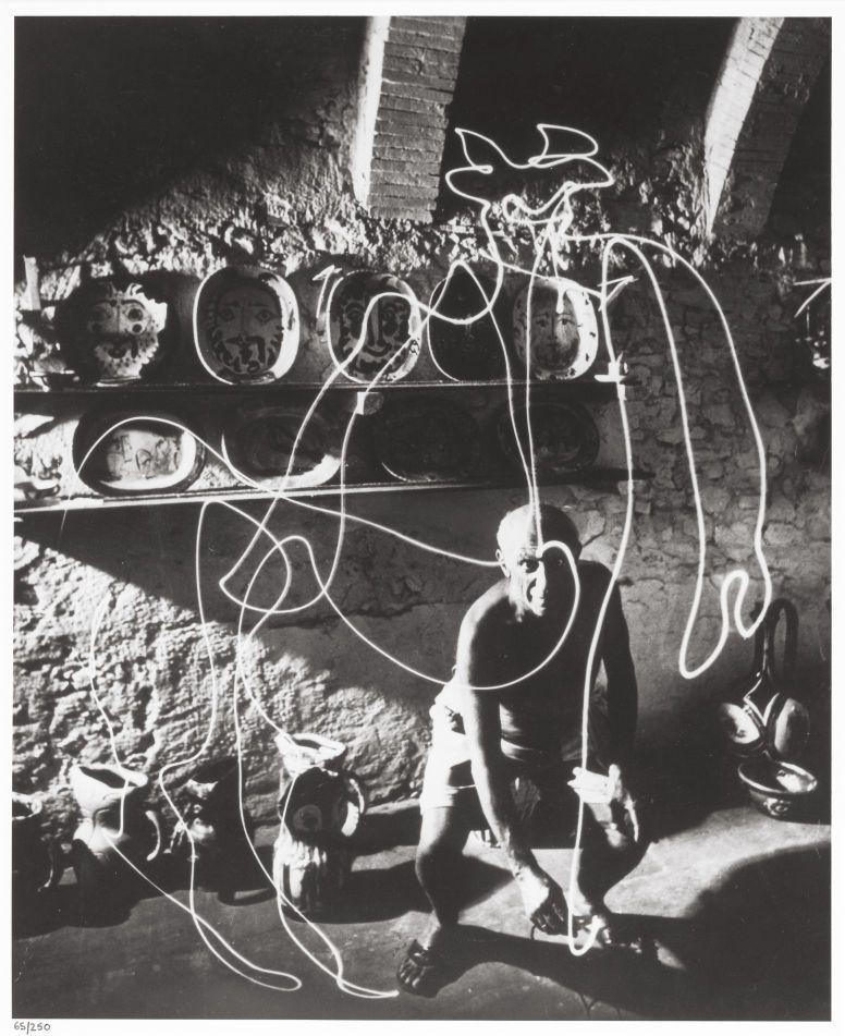 Vintage 1949 Pablo Picasso Draws Paints with Light a Centaur 1949