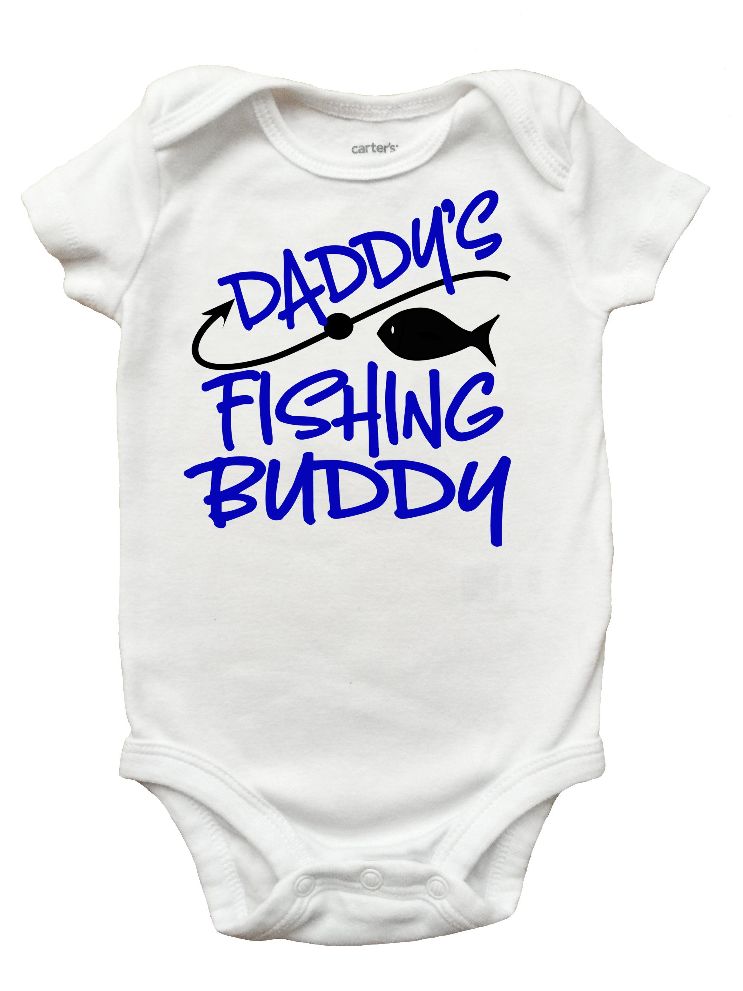 Daddy/'s Fishing Buddy Bodysuit Daddy/'s Fishing Buddy Shirt