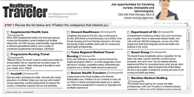 Top Travel Nursing Agencies Of 2012 Free Info And Job Boards