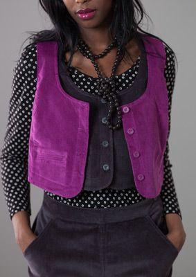 Cotton/spandex corduroy vest – Blouses & waistcoats – GUDRUN SJÖDÉN – Webshop, mail order and boutiques   Colorful clothes and home textiles...