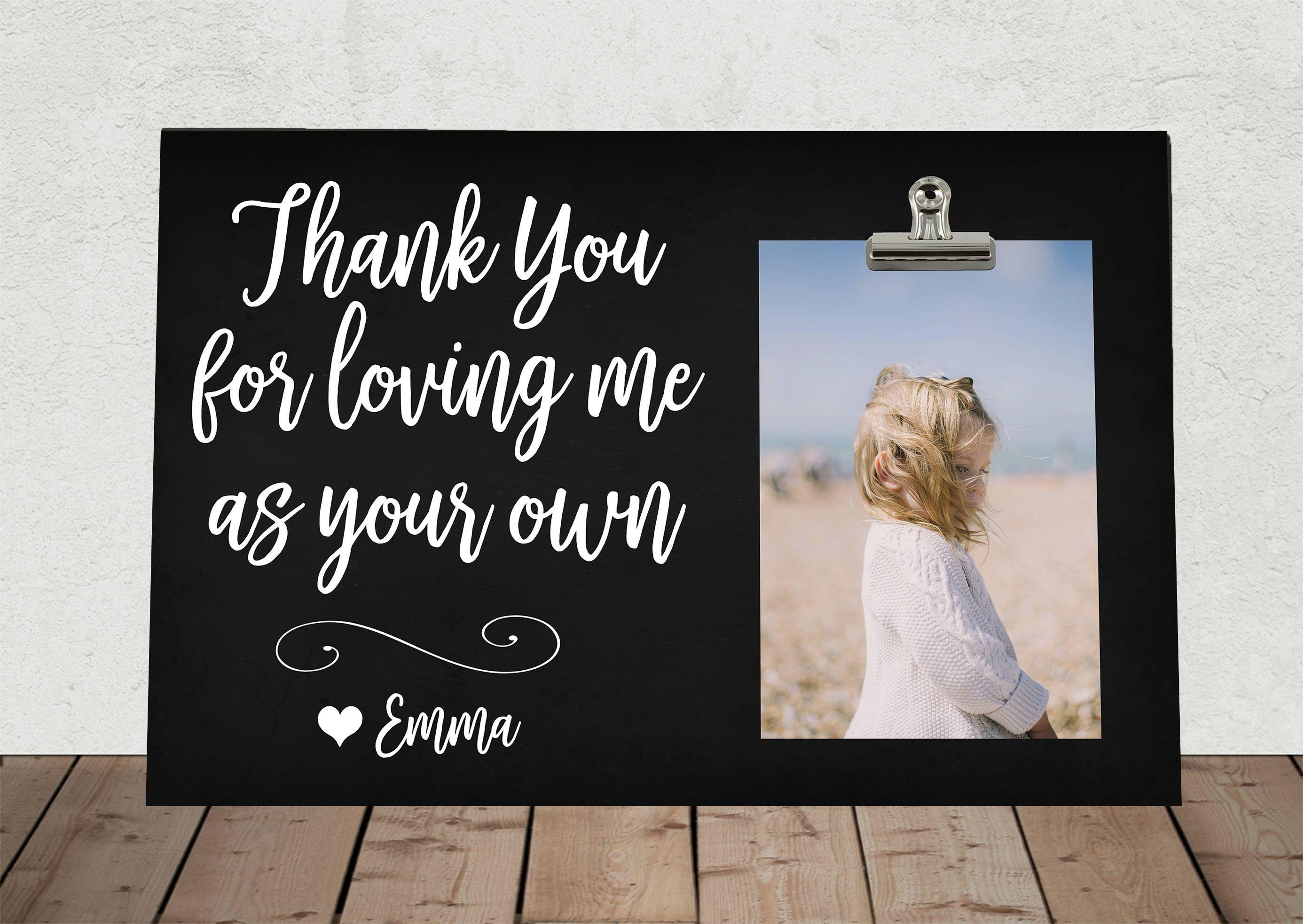 Personalized Free t for DAD or MOM Thank You for Loving me as