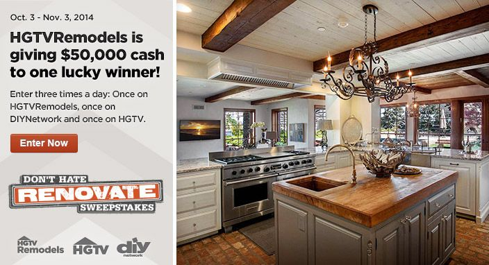 Hgtv dont hate renovate sweepstakes winners