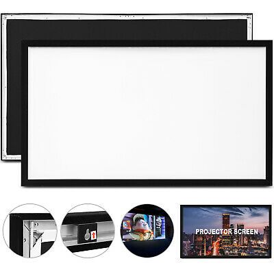 Ad Ebay Link 110 Aluminum Fixed Frame 16 9 Projector Screen Velvet Matte White Home Theater Projector Screen Portable Projector Screen Outdoor Projector