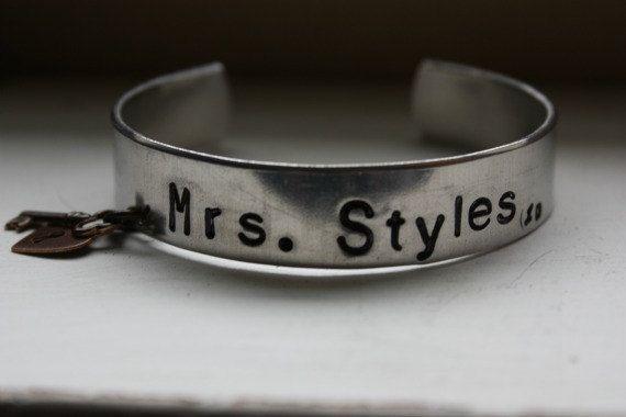 One Direction Cuff Bracelet Mrs Harry Styles Liam Payne by tagsoup, $12.00