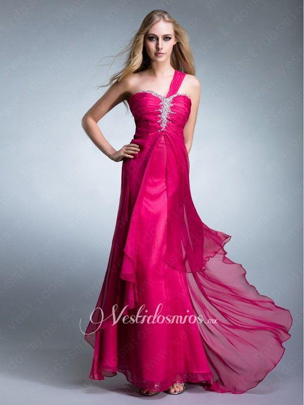 Solo hombro vestido de noche | accesorios | Pinterest | Noche ...