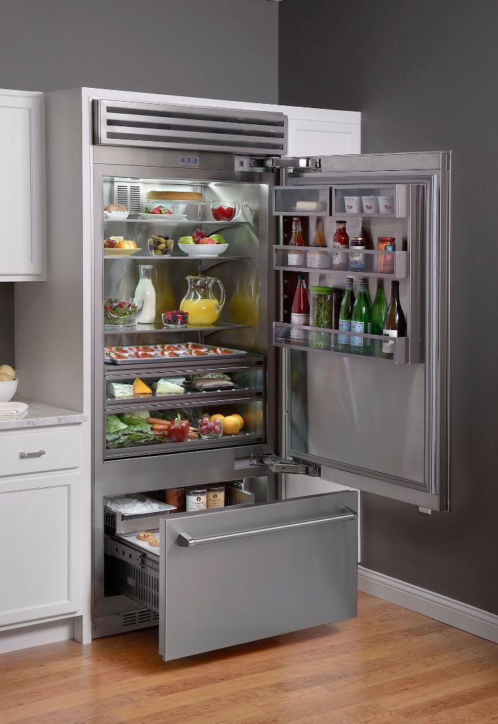 Experience How Our Award Winning 36 Built In Refrigerator Is Redefining The Art Of Home Coolin Built In Refrigerator Outdoor Kitchen Appliances Outdoor Kitchen