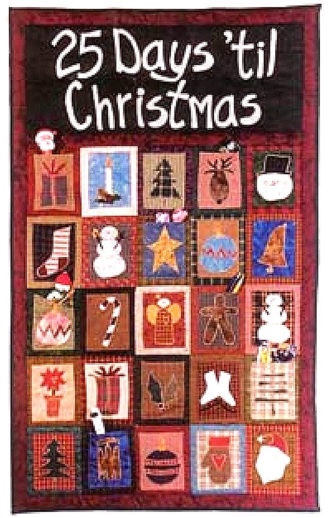 QUILTING SANTA/'S CHRISTMAS COUNTDOWN ADVENT SEWING PATTERN by Gail PATCHWORK
