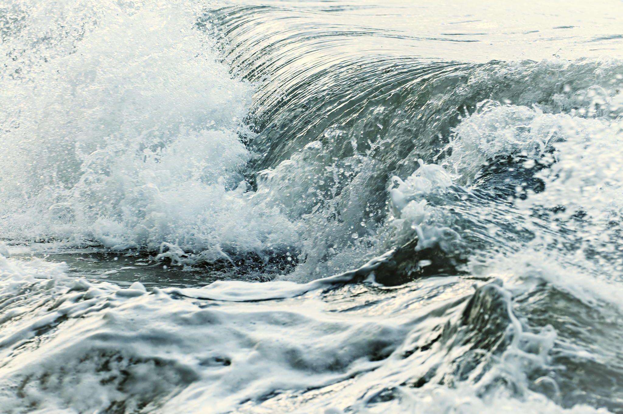 Waves in stormy ocean by Elena Elisseeva