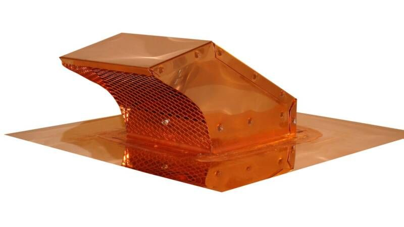 Copper Roof Range Exhaust Cap With Flapper Dryer Vent Copper Roof Roof Cap