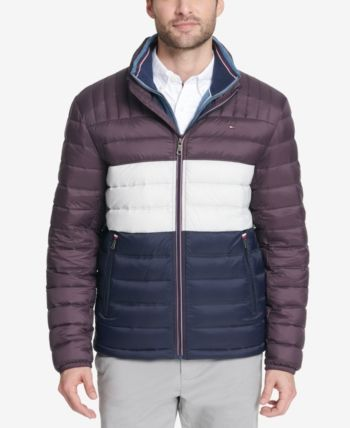 Details about Tommy Hilfiger Men's Quilted Puffer Jacket Coat Midnight L Pre Black Friday